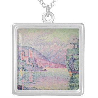 Antibes, Evening, 1914 Silver Plated Necklace