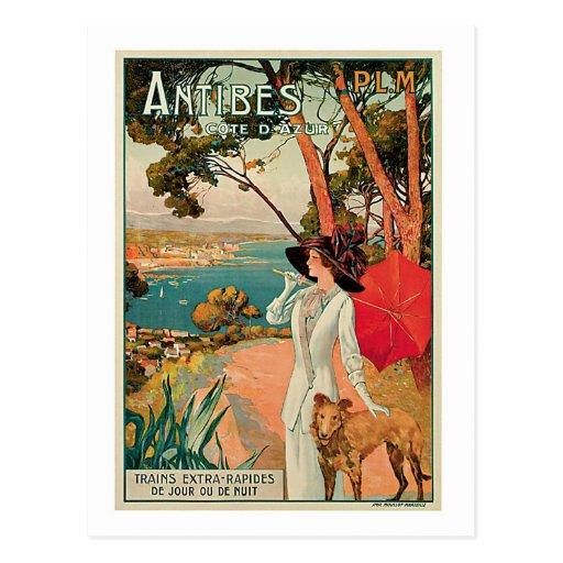 Antibes France Vintage Travel Advertisement Postcards