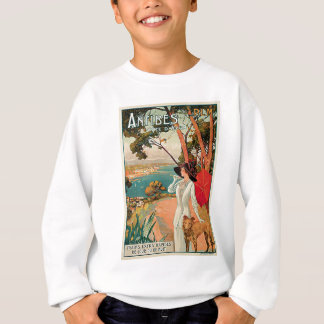 Antibes France Vintage Travel Advertisement Sweatshirt