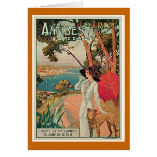 Antibes France Vintage Travel Greeting Card