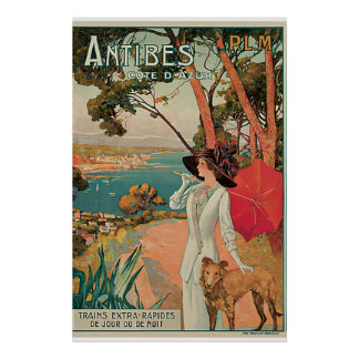 Antibes, France Vintage Travel Poster