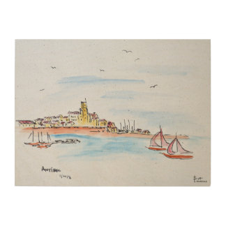Antibes on the Mediterranean, France Wood Wall Decor