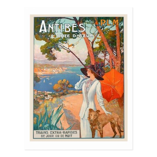 Antibes Poster Post Card