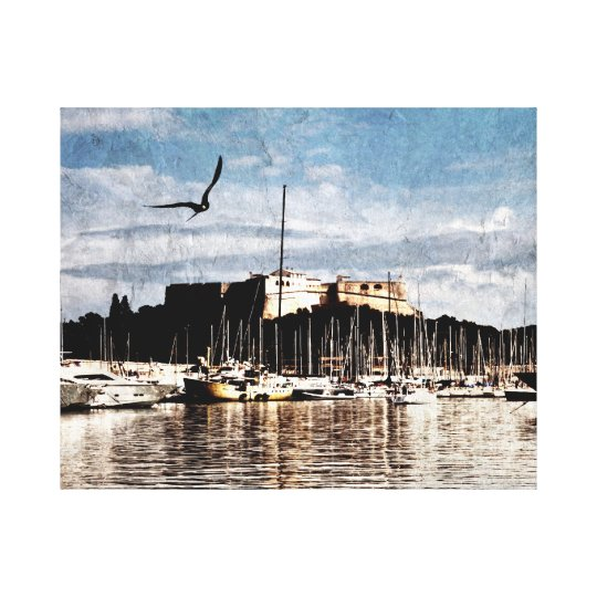 Antibes, Provence harbour canvas print