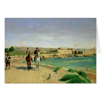 Antibes, the Horse Ride, 1868 Card