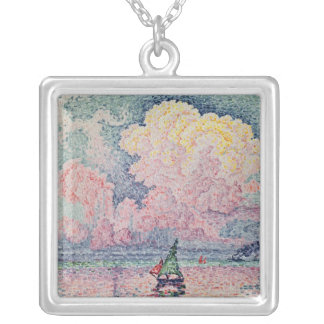 Antibes, the Pink Cloud, 1916 Silver Plated Necklace