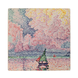 Antibes, the Pink Cloud, 1916 Wood Coaster