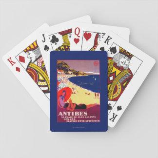 Antibes Vintage PosterEurope Deck Of Cards