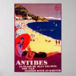 Antibes Vintage PosterEurope Print
