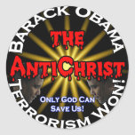 AntiChrist Obama God Classic Round Sticker