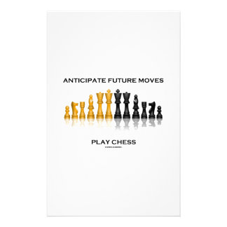 Anticipate Future Moves Play Chess (Chess Set) Personalized Stationery