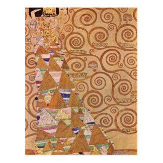 Anticipation by Gustav Klimt Postcard