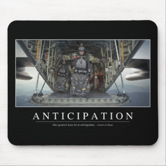 Anticipation: Inspirational Quote Mouse Mat