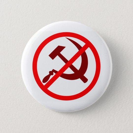 anticommunist 6 cm round badge