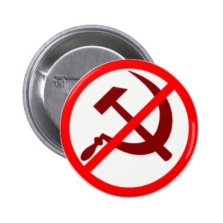 anticommunist 6 cm round badge