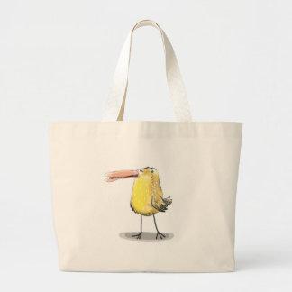 anticute yellow ugly chick jumbo tote bag