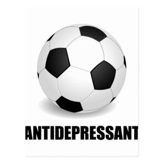 Antidepressant Soccer Postcard