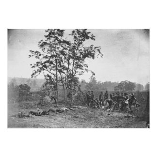 Antietam MD Burying the dead Confederate soldiers Poster