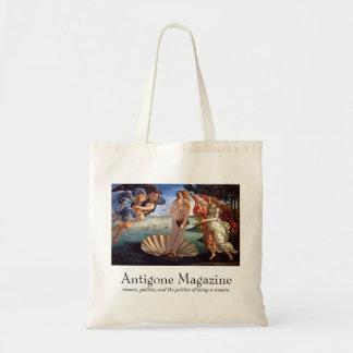 Antigone Magazine Tote (grey suit)