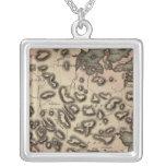 Antigua 2 square pendant necklace
