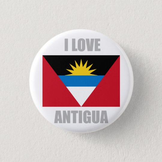 Antigua And Barbuda 3 Cm Round Badge
