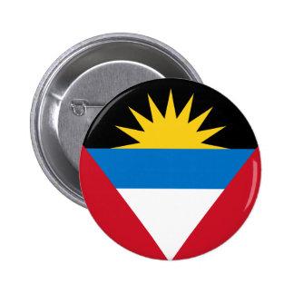 antigua and barbuda 6 cm round badge