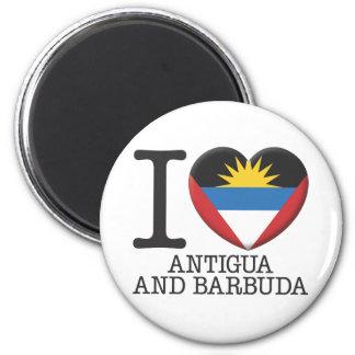 Antigua and Barbuda 6 Cm Round Magnet