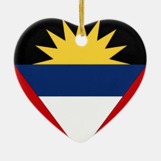 Antigua and Barbuda Ceramic Heart Decoration