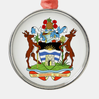 Antigua and Barbuda Coat of Arms Christmas Tree Ornaments