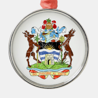 Antigua And Barbuda Coat Of Arms Silver-Colored Round Decoration