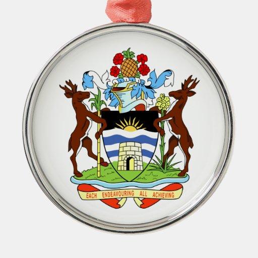 Antigua And Barbuda Coat Of Arms Christmas Tree Ornament