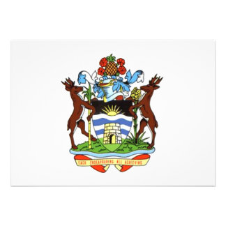 Antigua and Barbuda Coat of Arms Personalized Announcement