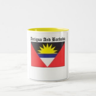 Antigua and Barbuda Coat of Arms T-shirt And Etc Two-Tone Coffee Mug