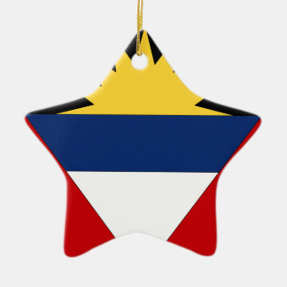 Antigua and Barbuda Double-Sided Star Ceramic Christmas Ornament