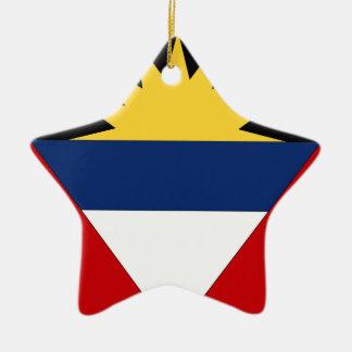 Antigua and Barbuda Double-Sided Star Ceramic Christmas Ornament