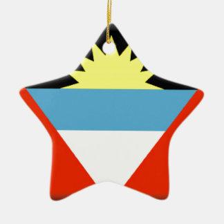Antigua and Barbuda Flag Ceramic Star Decoration