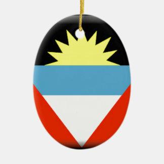 Antigua and Barbuda Flag Christmas Tree Ornament