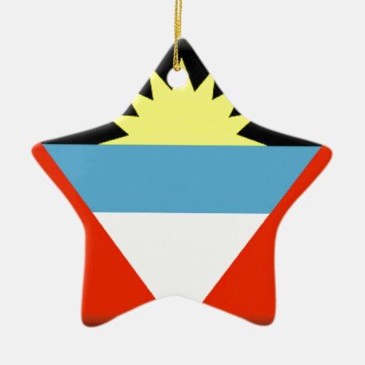 Antigua and Barbuda Flag Christmas Tree Ornaments