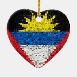 Antigua and Barbuda Flag glitter ornament