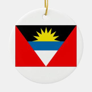 Antigua and Barbuda Flag Round Ceramic Decoration