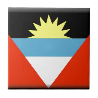 Antigua and Barbuda Flag Tile