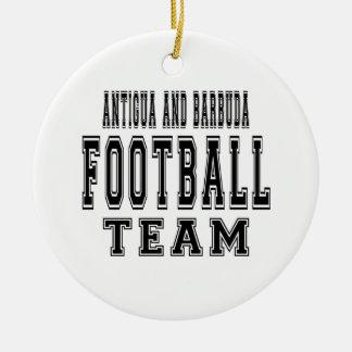 Antigua and Barbuda Football Team Christmas Ornament