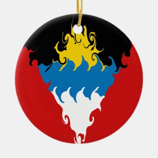 Antigua and Barbuda Gnarly Flag Ornament
