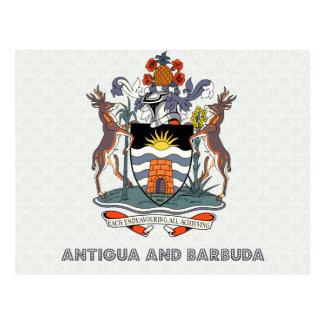 Antigua And Barbuda High Quality Coat of Arms Postcard