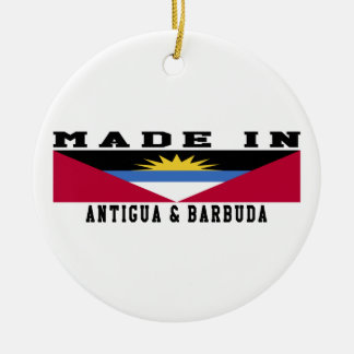 Antigua and Barbuda Made In Designs Double-Sided Ceramic Round Christmas Ornament