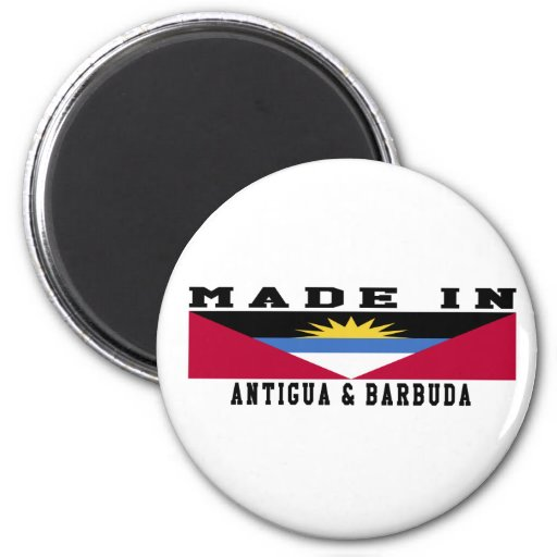 Antigua and Barbuda Made In Designs Refrigerator Magnets