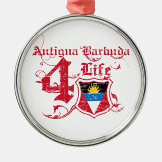 Antigua and Barbuda Silver-Colored Round Decoration