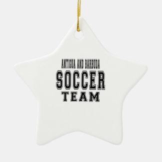Antigua and Barbuda Soccer Team Ornaments