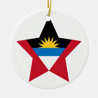Antigua+and+Barbuda Star Christmas Tree Ornaments