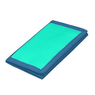Antigua Aqua Aquamarine Blue Green Tropical Trifold Wallet